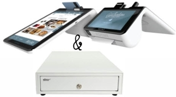 Poynt Smart Terminal ( Wi-Fi ) + Star Micronics Cash Drawer White